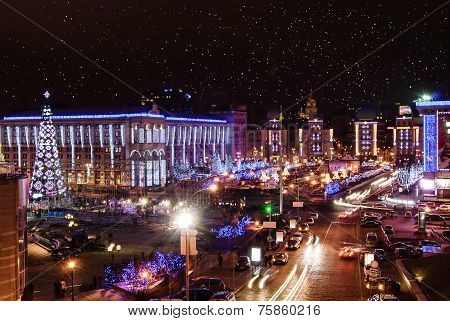 Christmas night in Kiev
