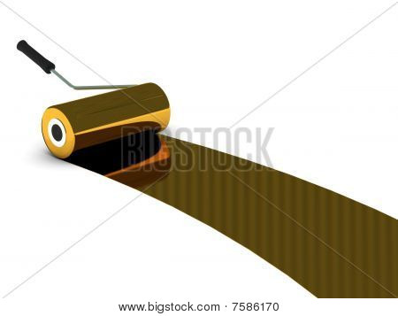 Golden Paint Roller