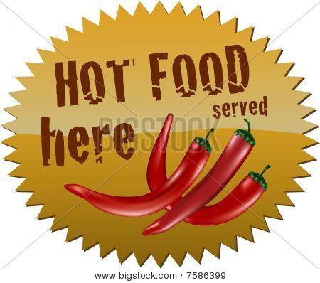 Hot food sign