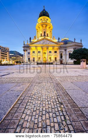 Historic Gendarmenmarkt Square in Berlin, Germany.