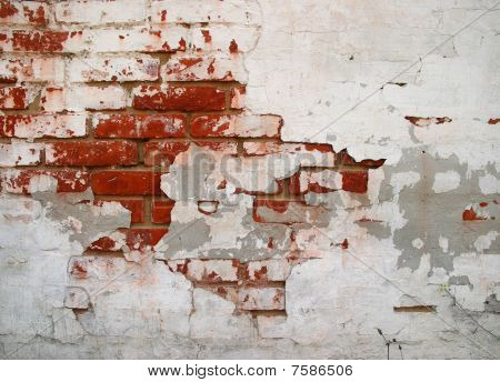 Cracked Grunge Brickwall Background