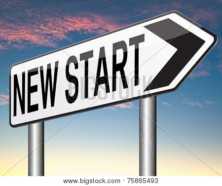 new start or opportunity back dto the beginning and play it again