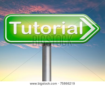 tutorial  learn online video lesson or class, website education