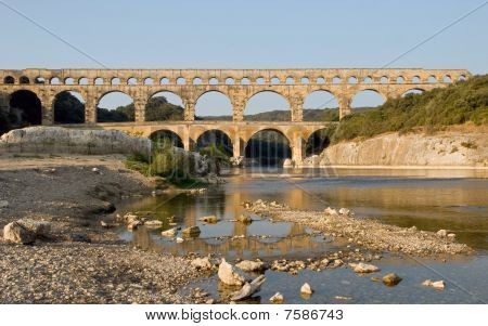 Riverbank at Pont du Gard