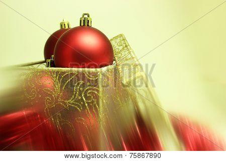 Christmas Bulbs In A Present Box