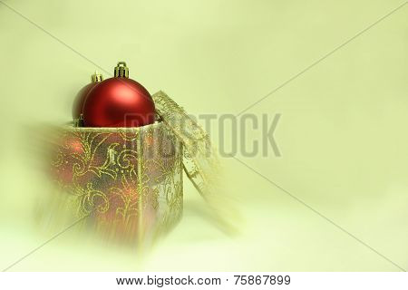 Christmas Bulbs In A Present Box