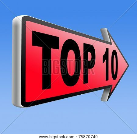 top 10 charts list pop poll result  and award winners chart ranking music hits best top ten quality rating prize winner