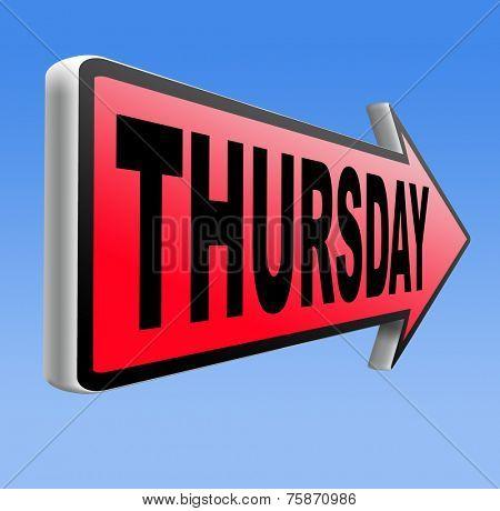 thursday sign event calendar