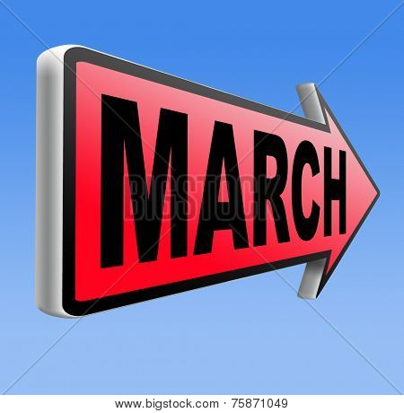 March this or next month of the year early spring event calendar