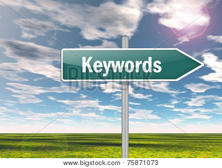 Signpost Keywords
