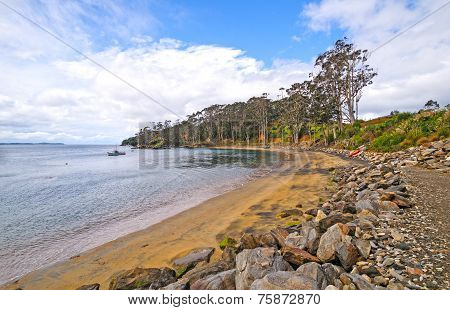 Quiet Cove On A Rustic Coastline