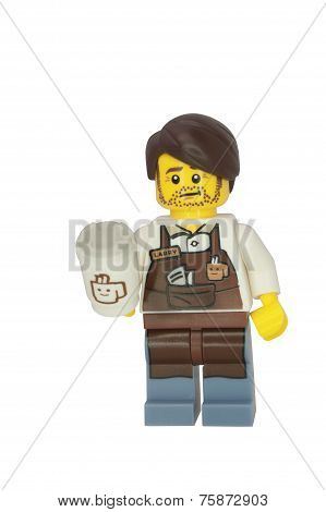 Larry The Barista Minifigure