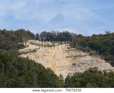 Sandy slope of mountain