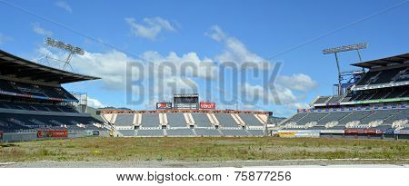 Lancaster Park Panorama - A Sad Picture Of Dereliction.