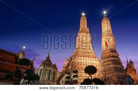 Arun Temple In Bangkok City