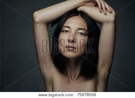 Portrait Of Attractive Mixed Race Woman