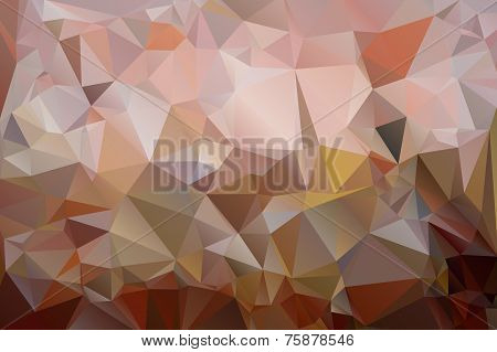 Triangles background in shades of brown color