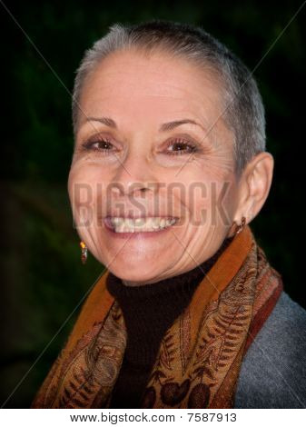 Attractive Senior Woman Smiling