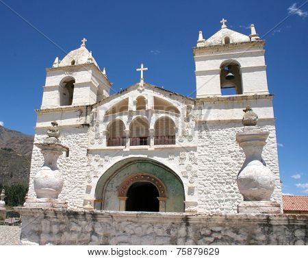 White Church In The Colca Canyon