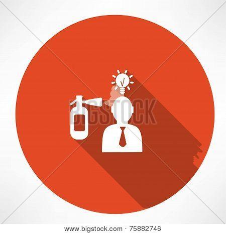 fire extinguisher extinguishes the idea of man icon