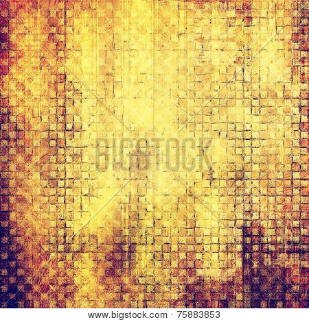 Rough vintage texture. With different color patterns: yellow, brown, orange, gray