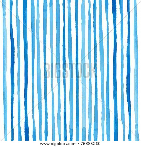 Watercolor stripes pattern. Drawing by hand