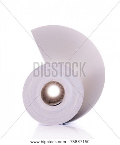 Wallpaper roll isolated on white