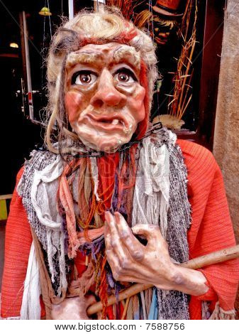 Angry Granny (czech Puppet)