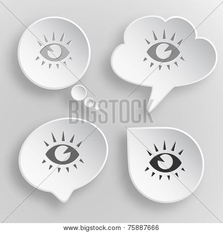 Eye. White flat raster buttons on gray background.