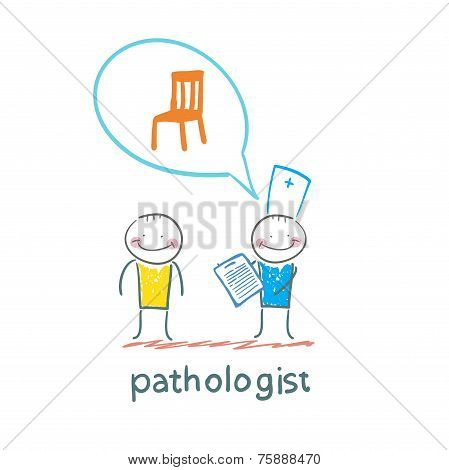 Pathologist with the patient says about the occupational disease