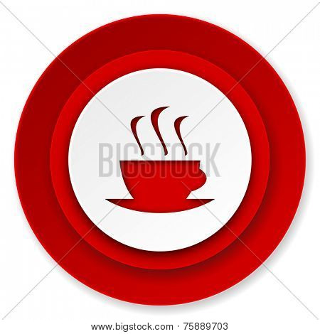espresso icon, hot cup of caffee sign