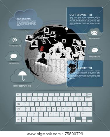 Cloud infographics, vector