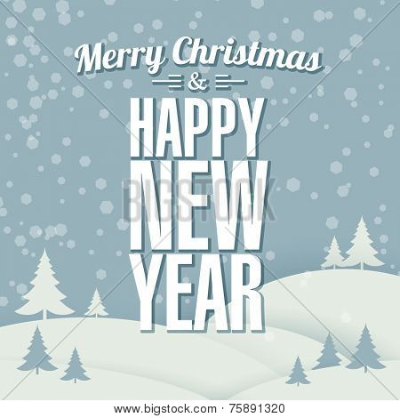 New year retro  greeting card design