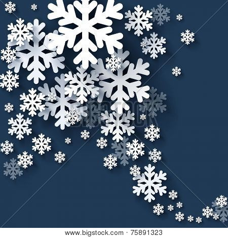 Christmas snowflakes. Vector.