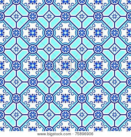 Pottery classic blue seamless pattern