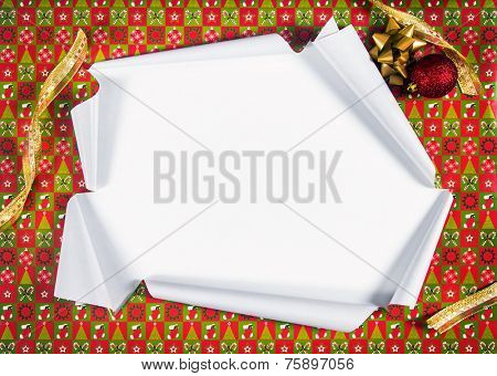 Unwrapping gifts by ripping the paper and revealing the content