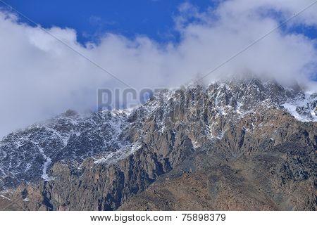 snow mountain in Northern Pakistan.