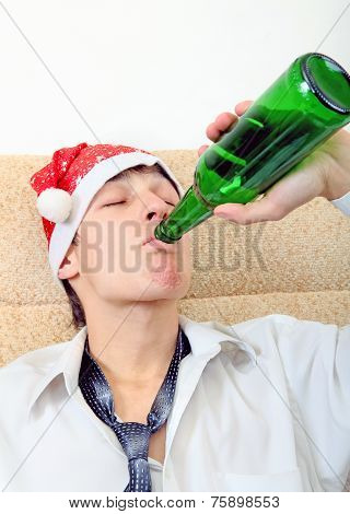 Teenager With A Beer