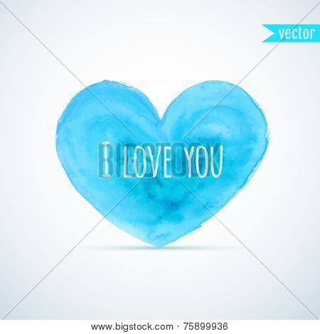 Vector Watercolor Heart For Homosexual Couple's Valentine's Day Card Designs