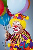 mit Ballons Clown