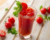 image of bloody mary  - Bloody Mary Alcoholic cocktail with tomatoes - JPG