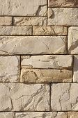 pic of tile cladding  - Cladding tiles imitating stones in sunny day