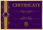 picture of certificate  - Elegant template of certificate - JPG