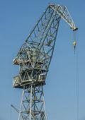 stock photo of polonia  - Shipyard crane also called portal crane in Gdansk Poland - JPG