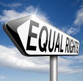 pic of equality  - equal rights equality for all man and women  - JPG