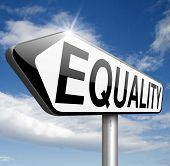 stock photo of equality  - equality for all and solidarity equal rights and opportunities no discrimination  - JPG