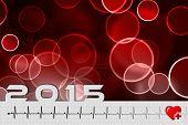 image of ecg chart  - 2015 blood donation heart ecg on pharmacy brochure - JPG