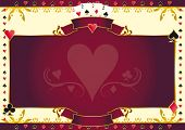 picture of ace spades  - Poker game heart horizontal background - JPG