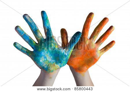 hands crossed colored