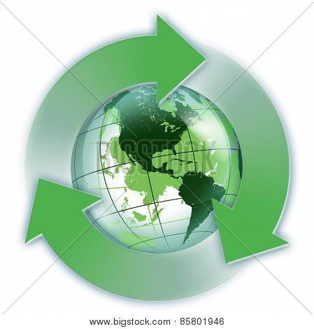 recycled Usa green world